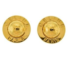 CELINE Phoebe Philo Saturn Gold globe earrings